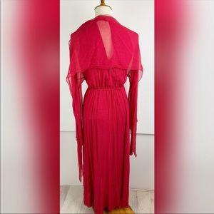 BCBGMaxAzria Dresses - BCBGMaxAzria Cape Full lengthSemi sheer dress 1599